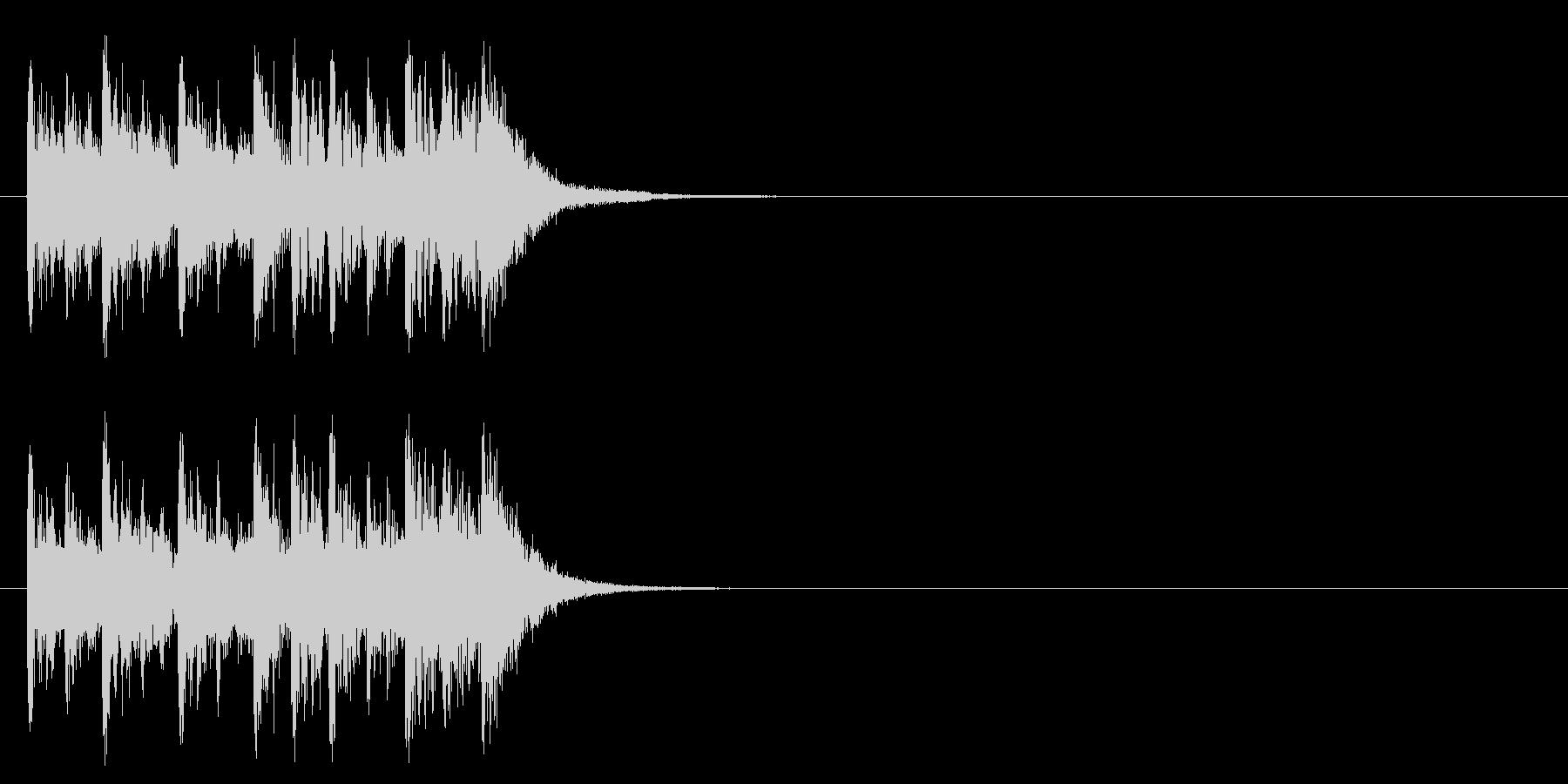コーナー・アタック風ポップのジングルの未再生の波形