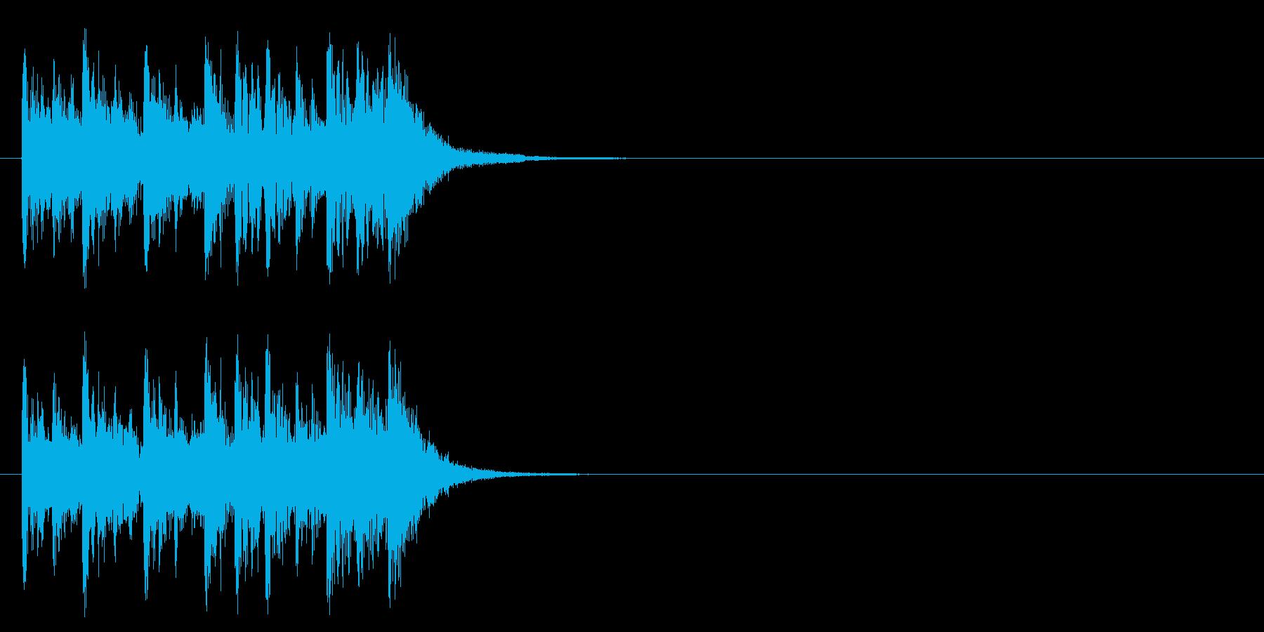 コーナー・アタック風ポップのジングルの再生済みの波形