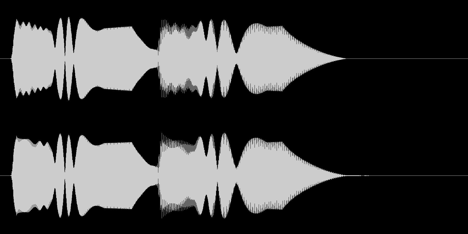トゥルルンという着信音(シンセ風)の未再生の波形