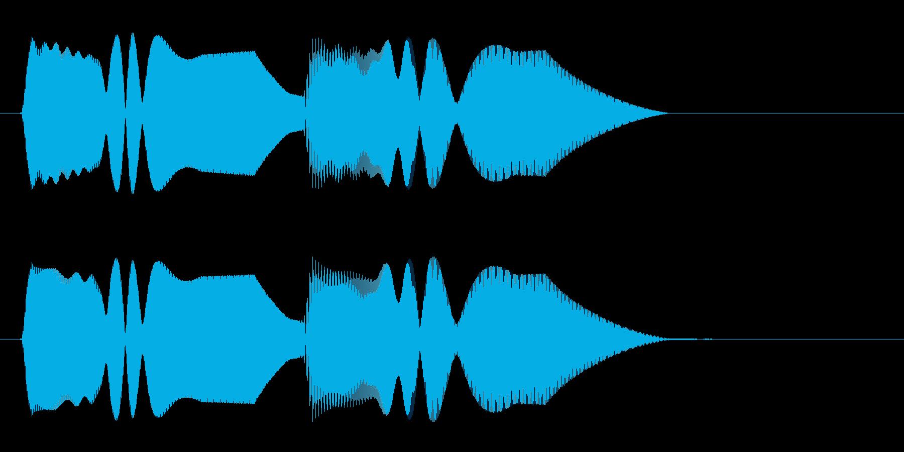 トゥルルンという着信音(シンセ風)の再生済みの波形