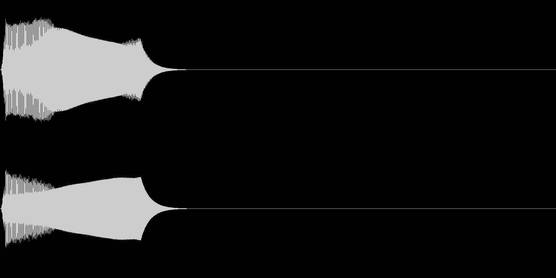 ジャンプ音01(ピヨッ)の未再生の波形