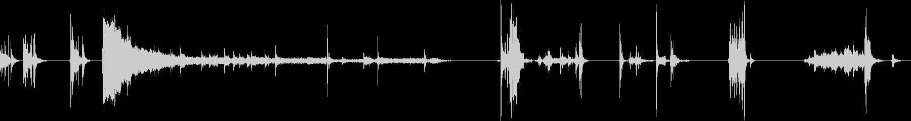レジでの精算の流れの未再生の波形