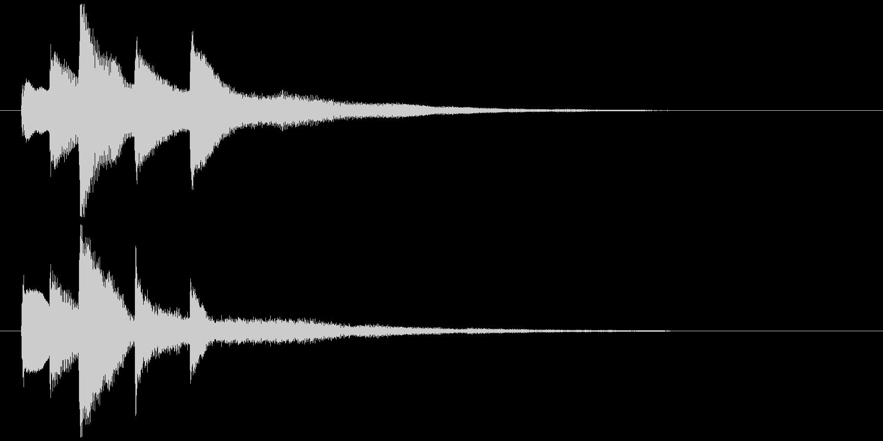 ピアノソロジングル08の未再生の波形