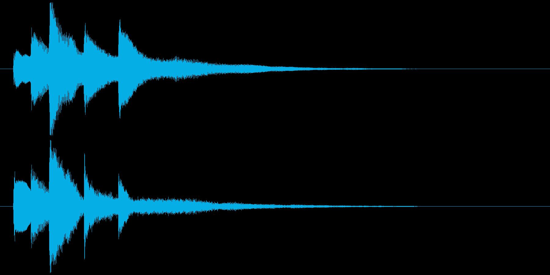 ピアノソロジングル08の再生済みの波形