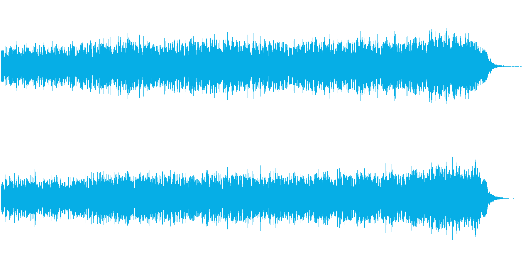 シンセによる異国の雰囲気のジングルの再生済みの波形