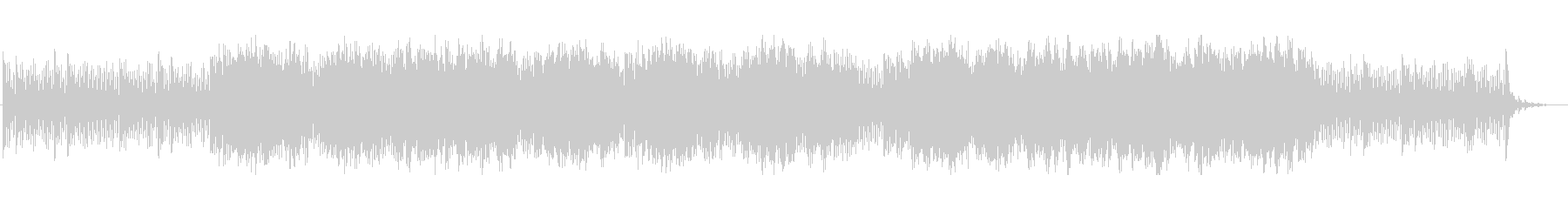 切ないシーンのシンセ曲の未再生の波形