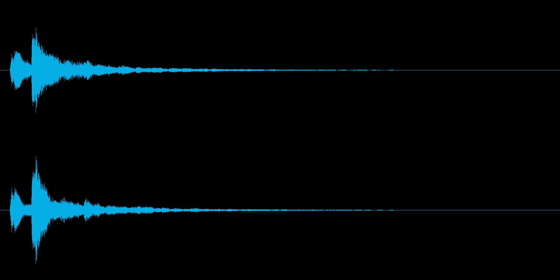 テロップ表示音~重音によるマイナー系~の再生済みの波形