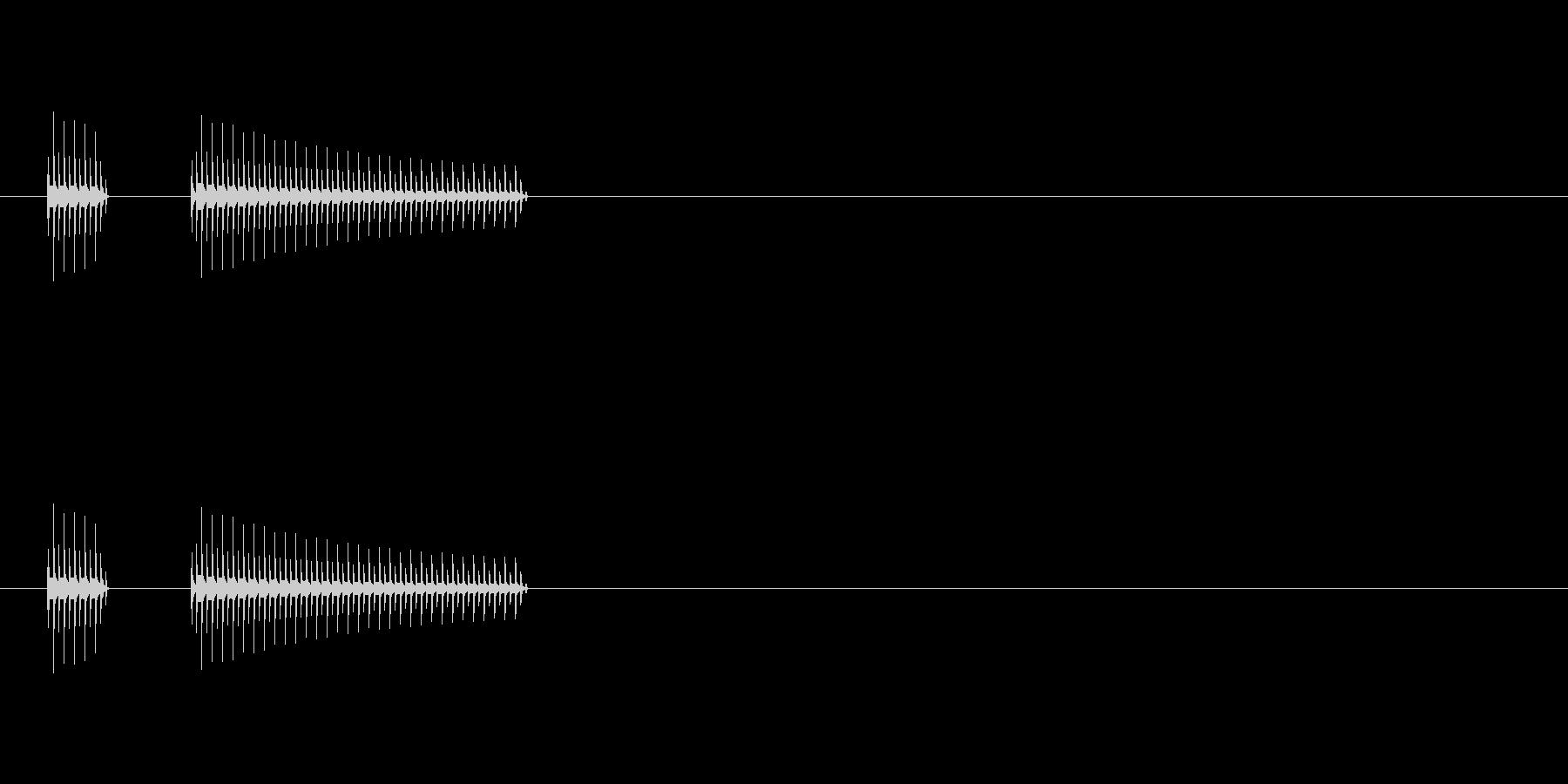 ブブー/クイズゲームの不正解音などにの未再生の波形