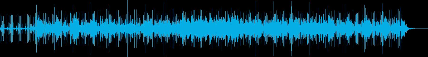 グルーヴィで明るいゆったりめのBGMの再生済みの波形