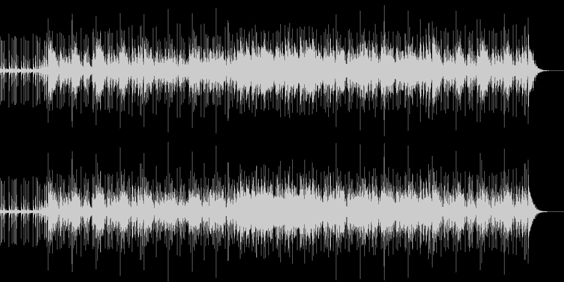 グルーヴィで明るいゆったりめのBGMの未再生の波形