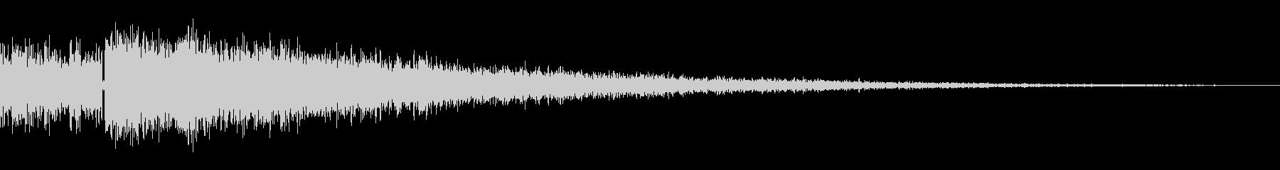 決定/ボタン押下音(ジャキーン)の未再生の波形