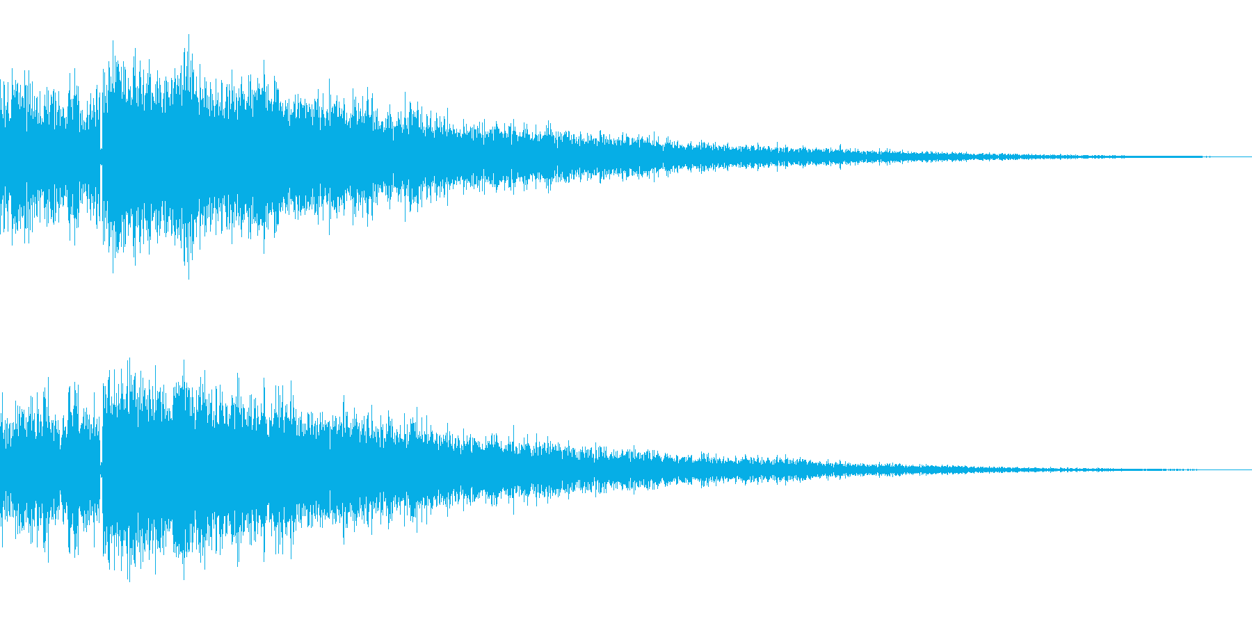決定/ボタン押下音(ジャキーン)の再生済みの波形