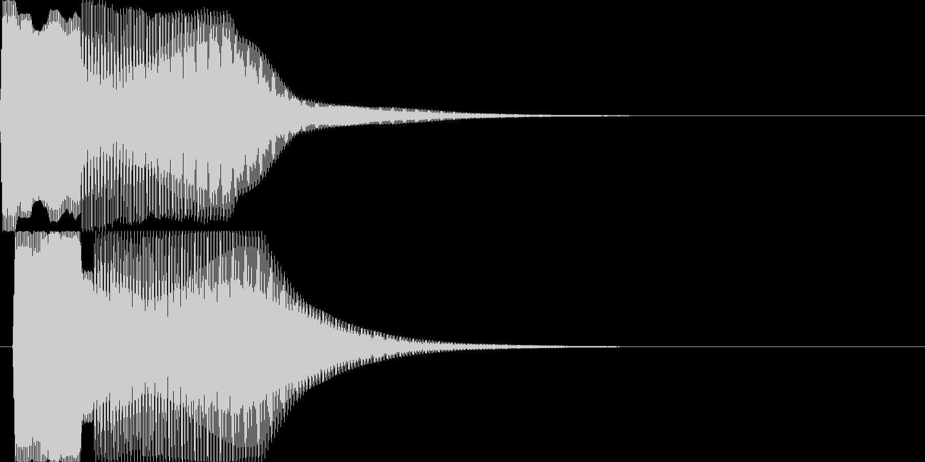 汎用決定ボタン - 3の未再生の波形