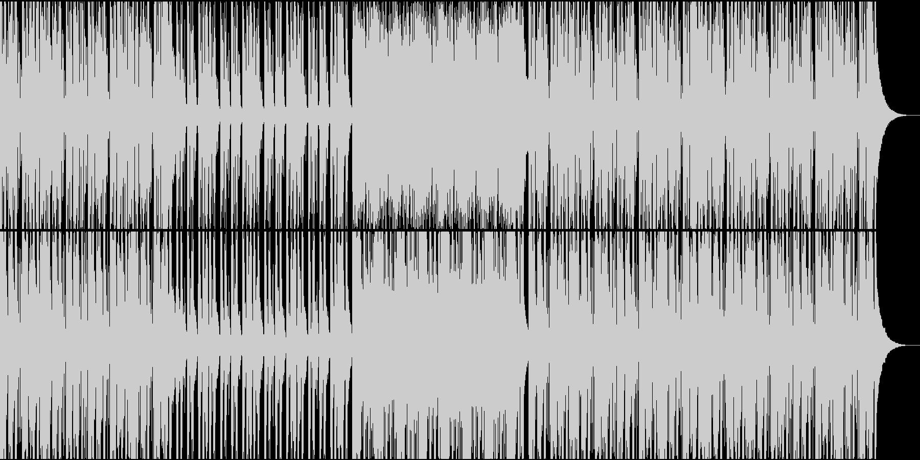 生演奏のギターカッティングが主体の曲の未再生の波形