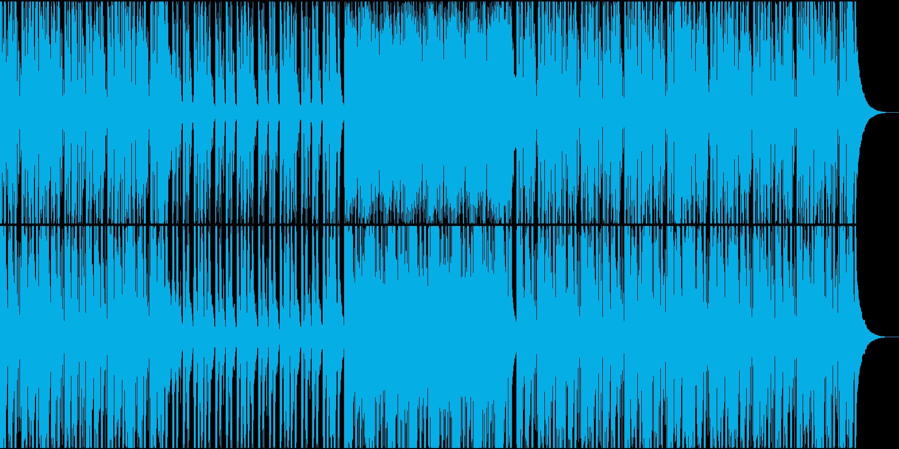 生演奏のギターカッティングが主体の曲の再生済みの波形