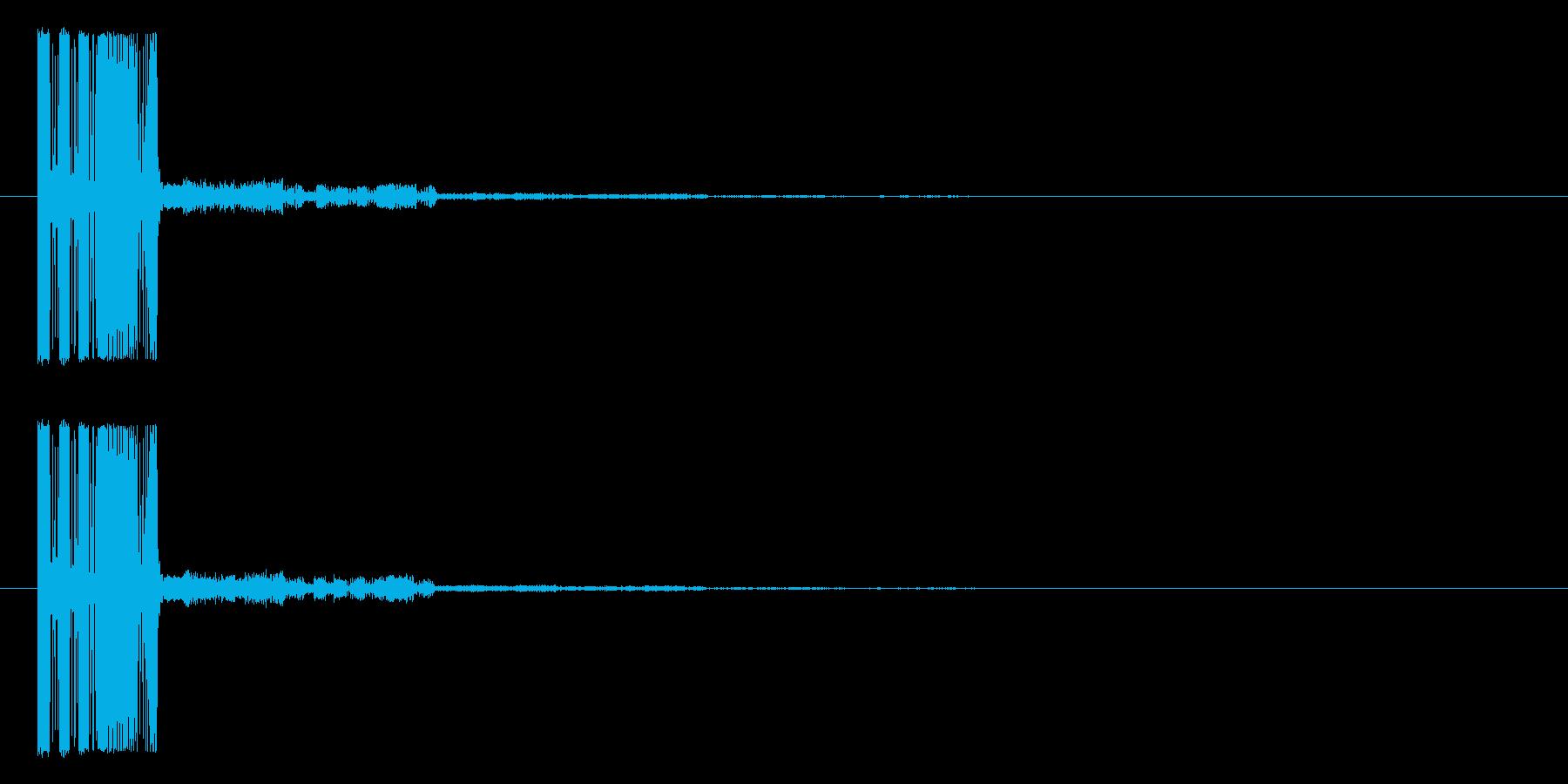 シューティング_被弾_ファミコン風3の再生済みの波形
