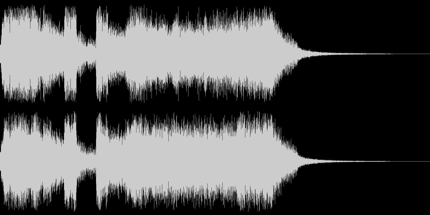 アメリカンな派手なファンファーレの未再生の波形