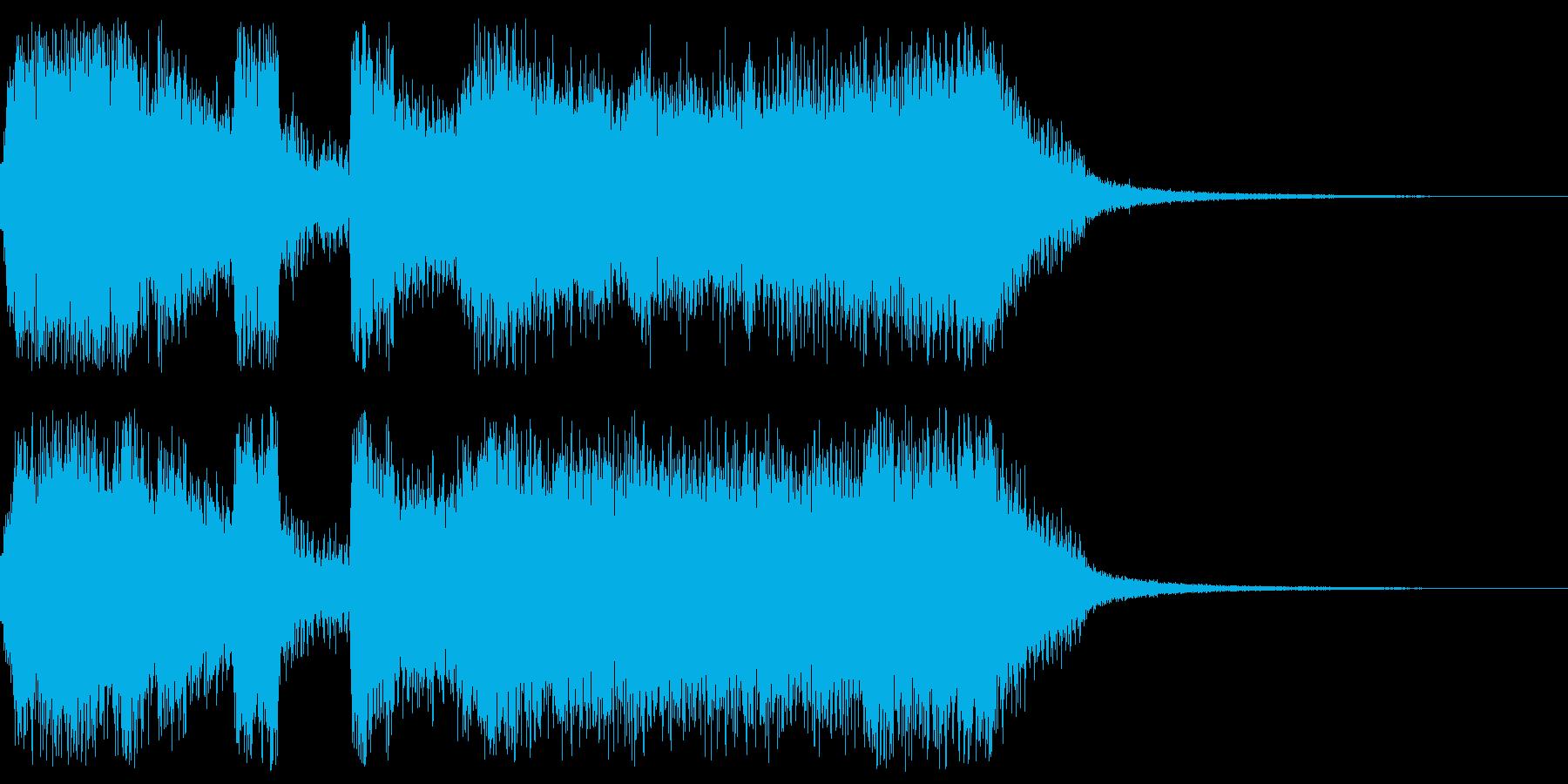 アメリカンな派手なファンファーレの再生済みの波形