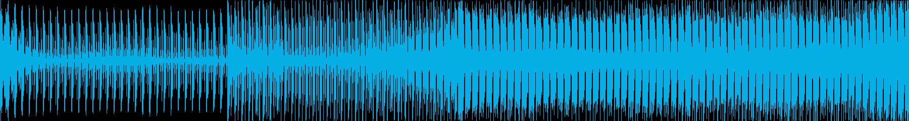 約56秒、緊迫した雰囲気のエレクトロ系…の再生済みの波形