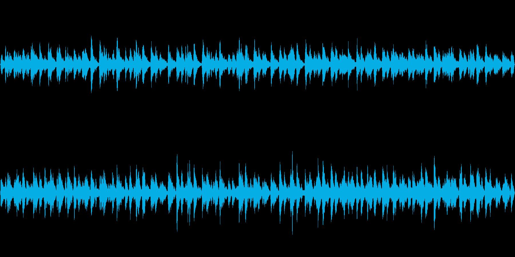 RPGのお店場面BGM、ループ曲の再生済みの波形