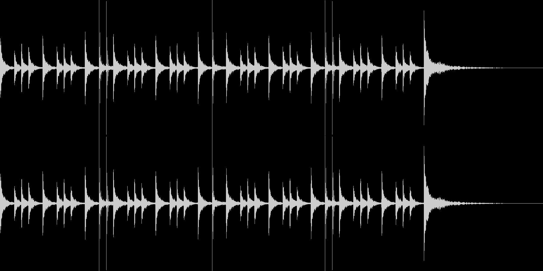 パーカッションのジングルの未再生の波形