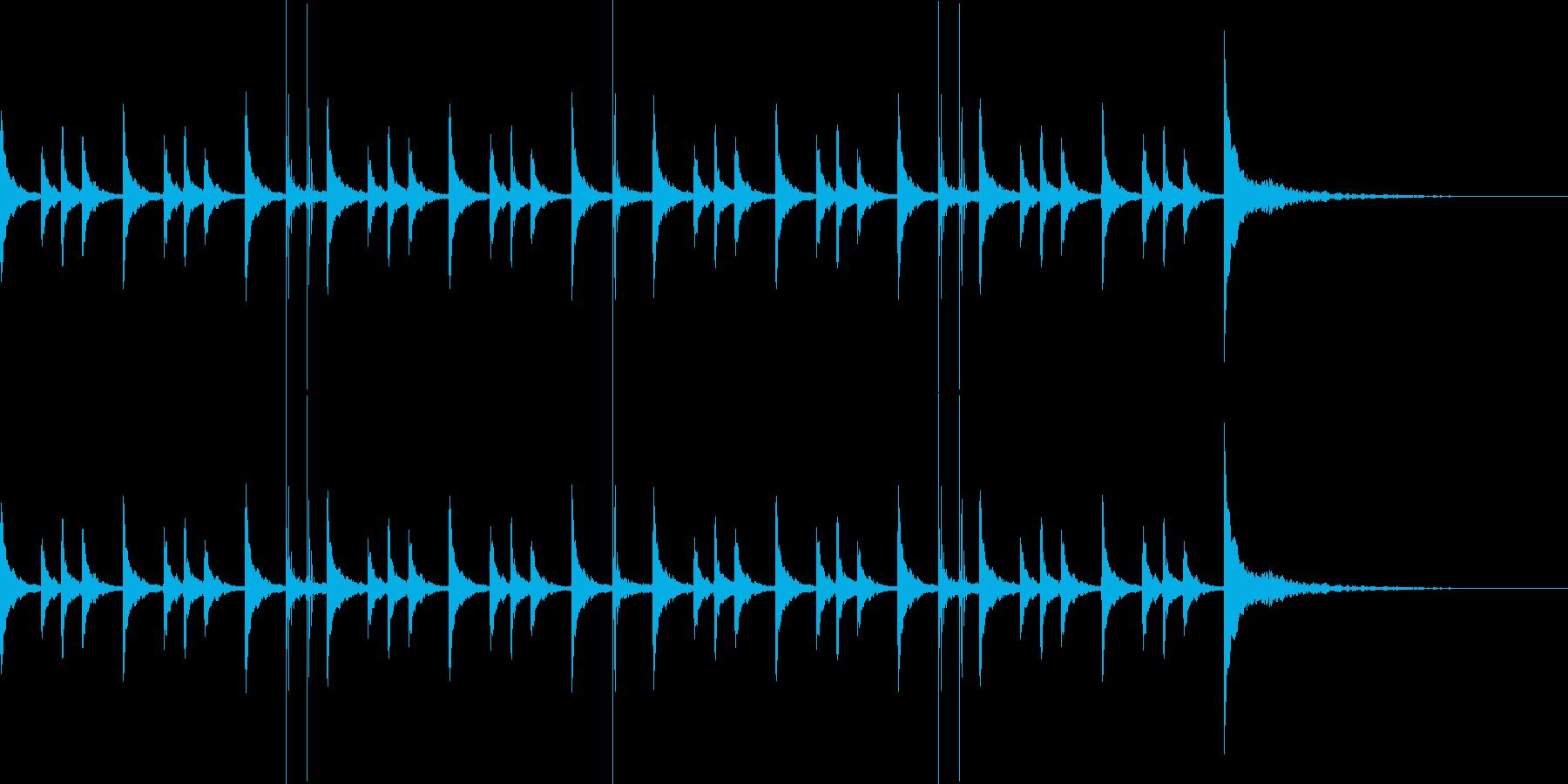パーカッションのジングルの再生済みの波形