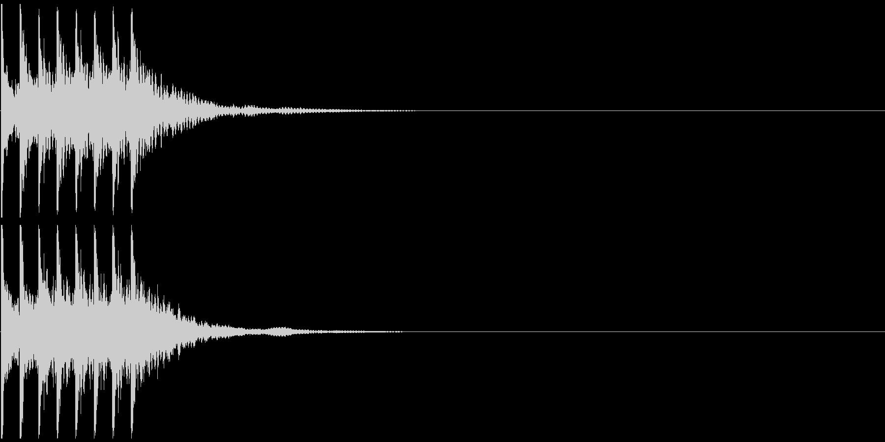 トテトテトテトテ 小動物が動く音の未再生の波形
