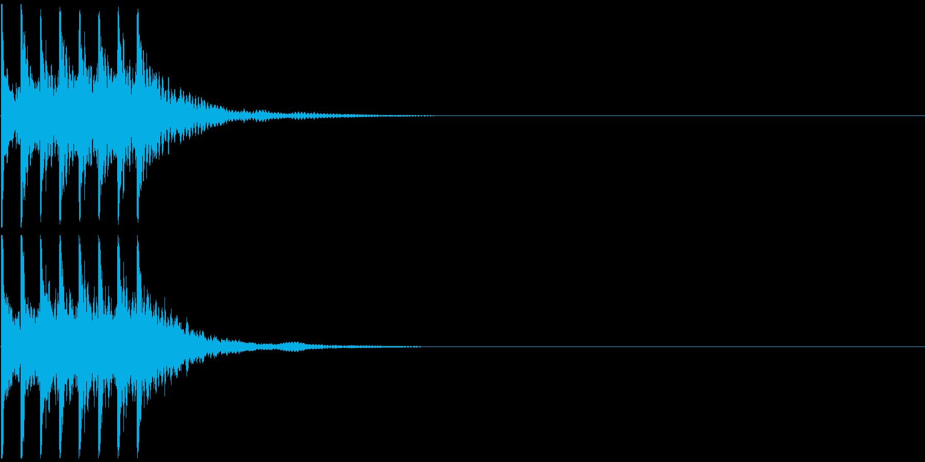 トテトテトテトテ 小動物が動く音の再生済みの波形