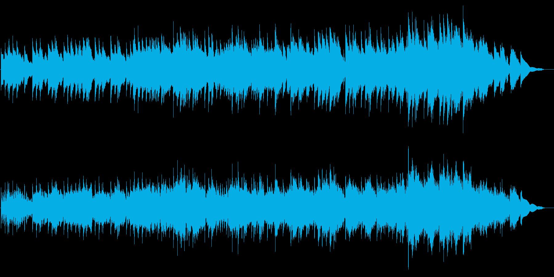 シンセベル音での、ワーグナーの結婚行進曲の再生済みの波形