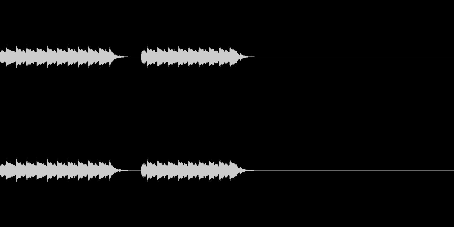 電話のベル2回、hihiBの未再生の波形