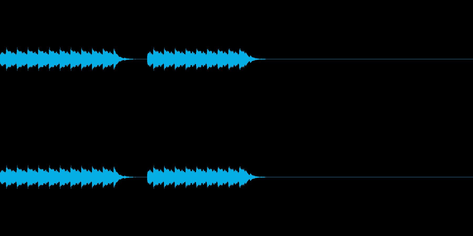 電話のベル2回、hihiBの再生済みの波形