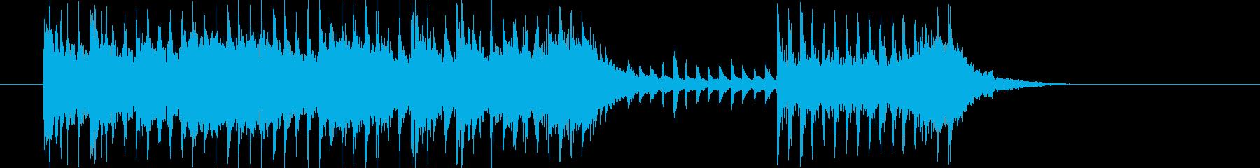 シリアスで勢いのあるシンセサウンド短めの再生済みの波形