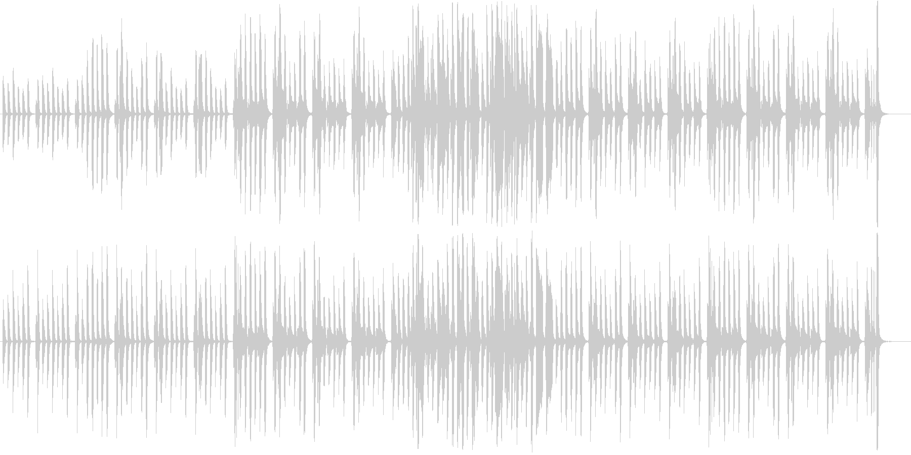 リコーダーとピアノの軽やかで可愛らしい曲の未再生の波形