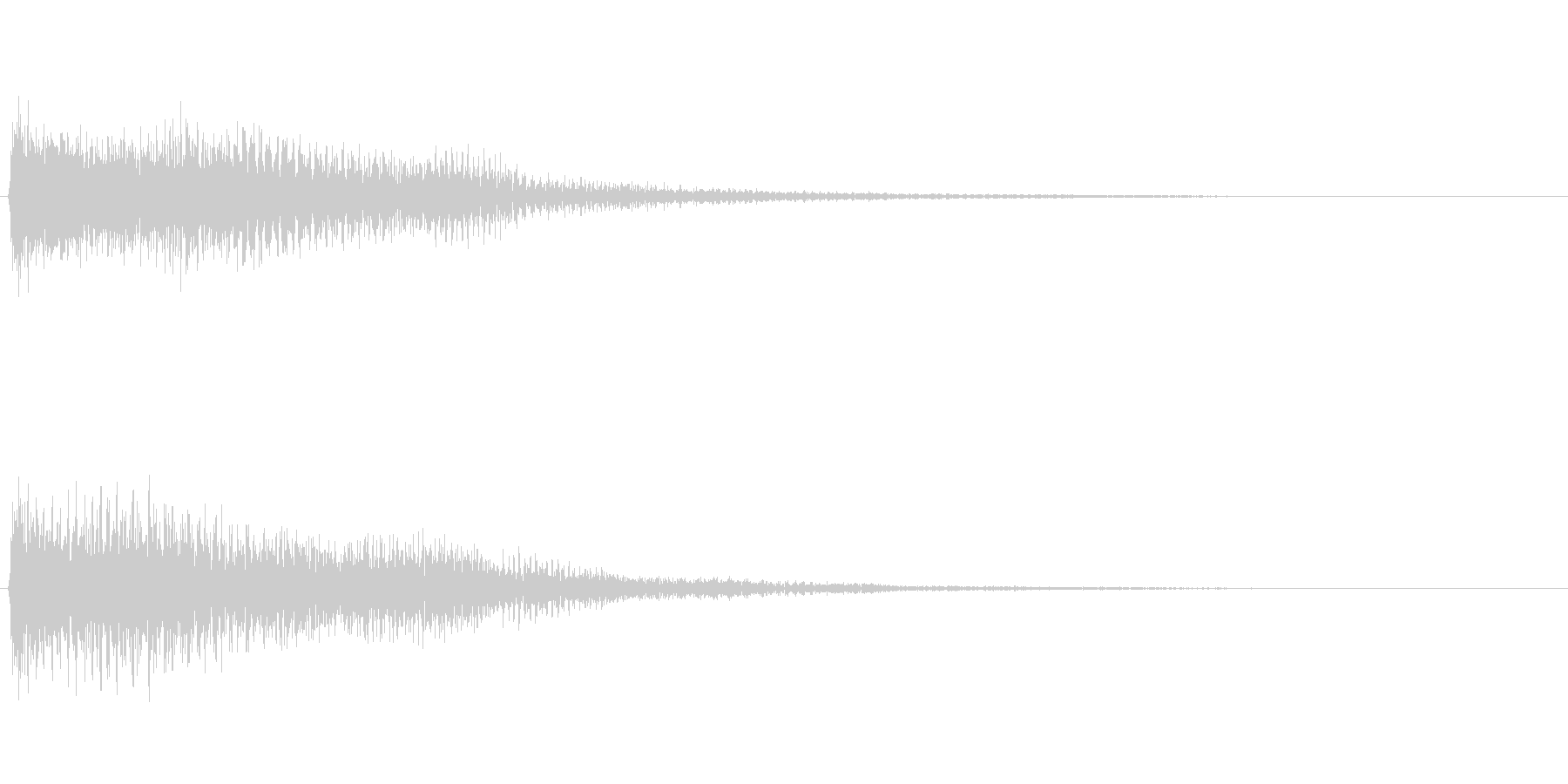 【SE 効果音】不安な音2の未再生の波形