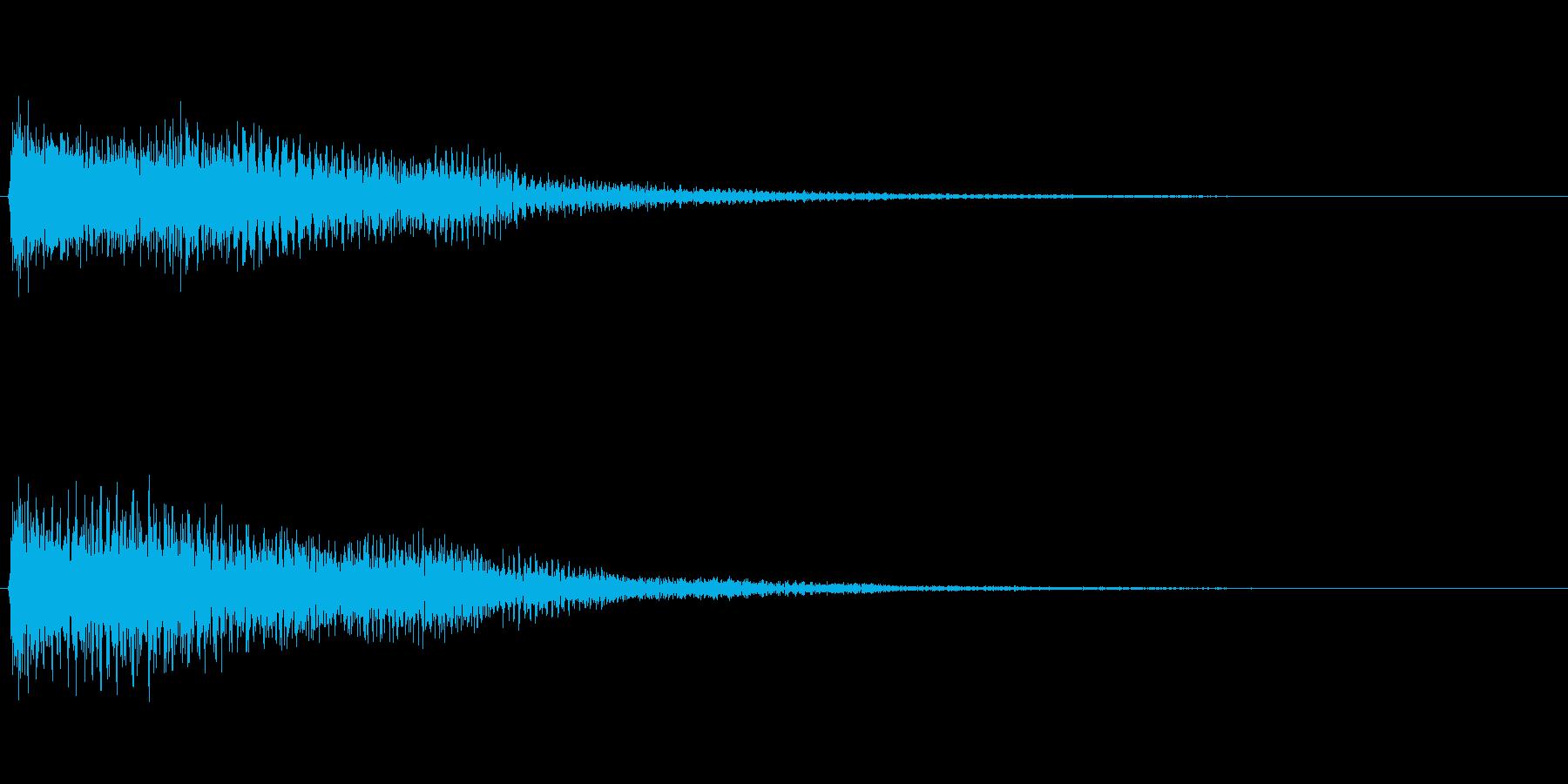 【SE 効果音】不安な音2の再生済みの波形