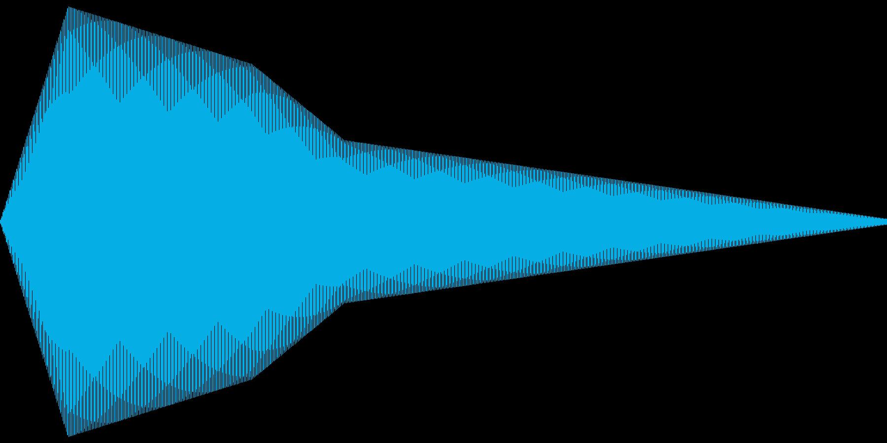 飛行機アナウンス_ぽーんの再生済みの波形