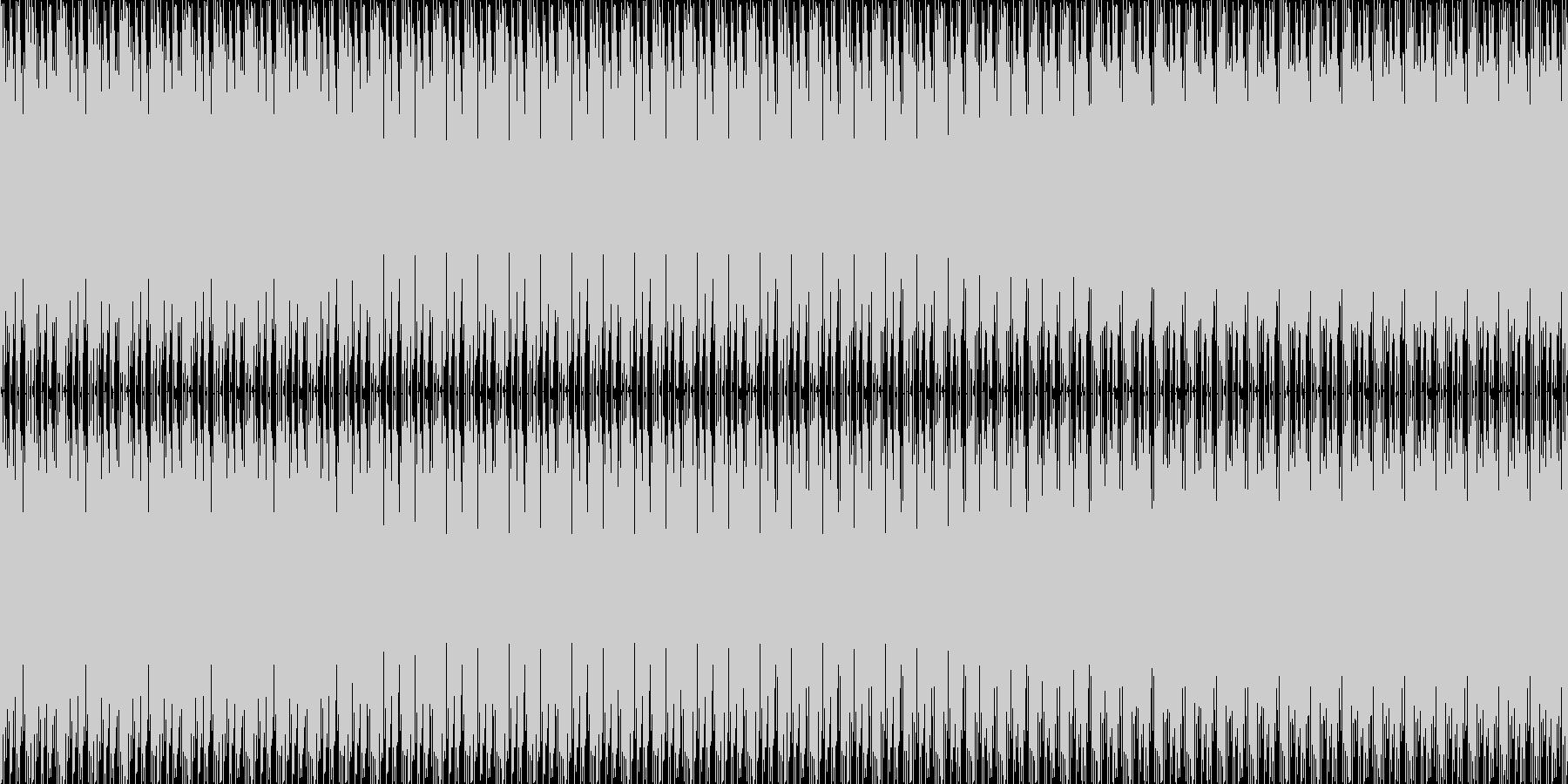 前向きの様で少し怪しい音、エンディング…の未再生の波形