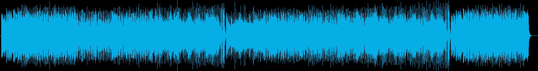 明るいアップテンポのポップで前向きな曲の再生済みの波形