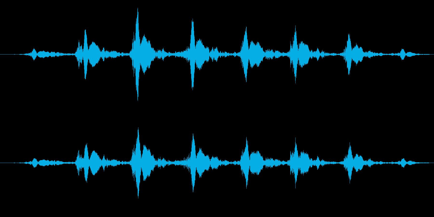 ブーメランを投げるの再生済みの波形