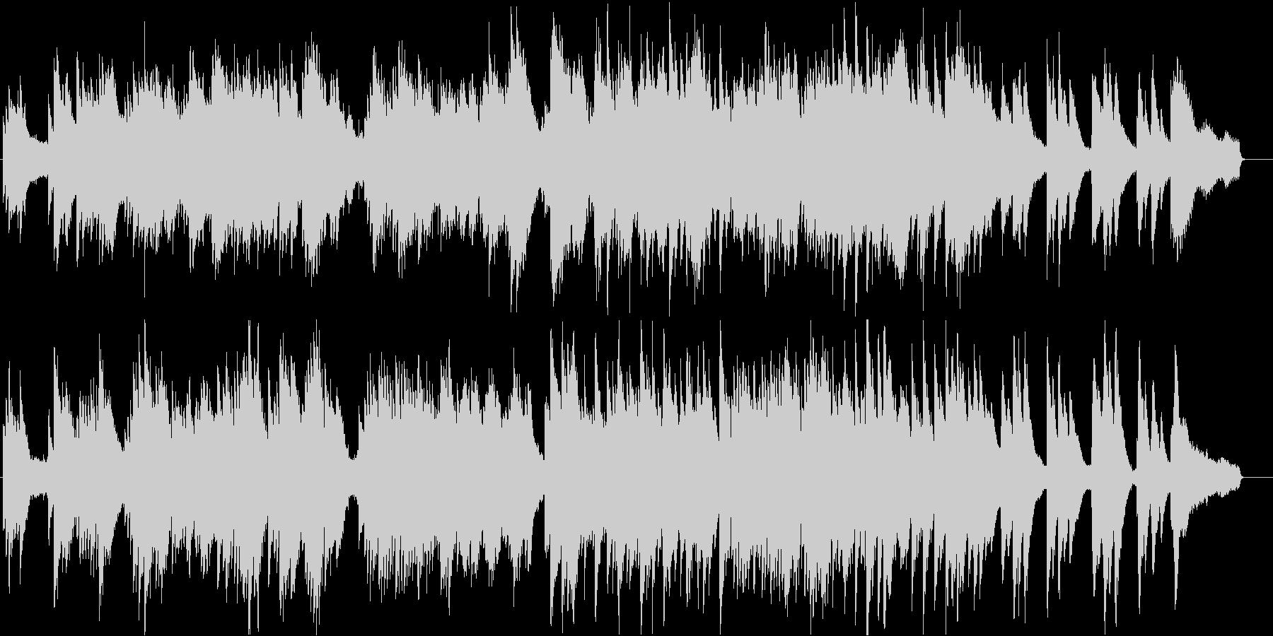 冬の雰囲気のする切ないピアノ曲の未再生の波形