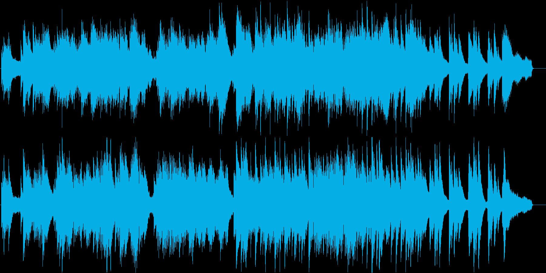 冬の雰囲気のする切ないピアノ曲の再生済みの波形