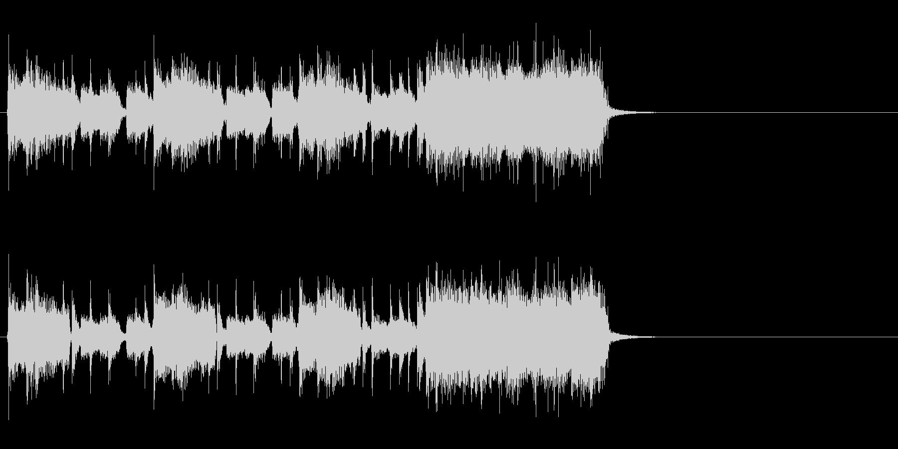 駆け抜けるハード・ロック(イントロ)の未再生の波形