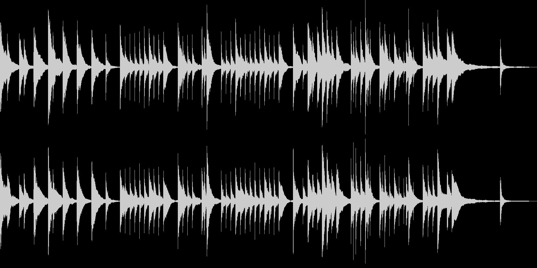 静かなアコースティックギターとピアノの未再生の波形