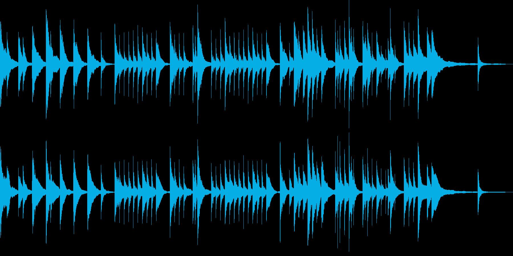 静かなアコースティックギターとピアノの再生済みの波形