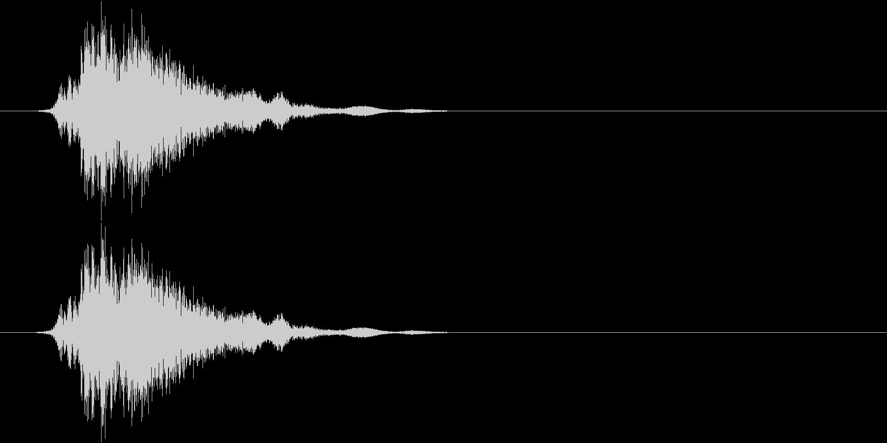 斬撃4の未再生の波形