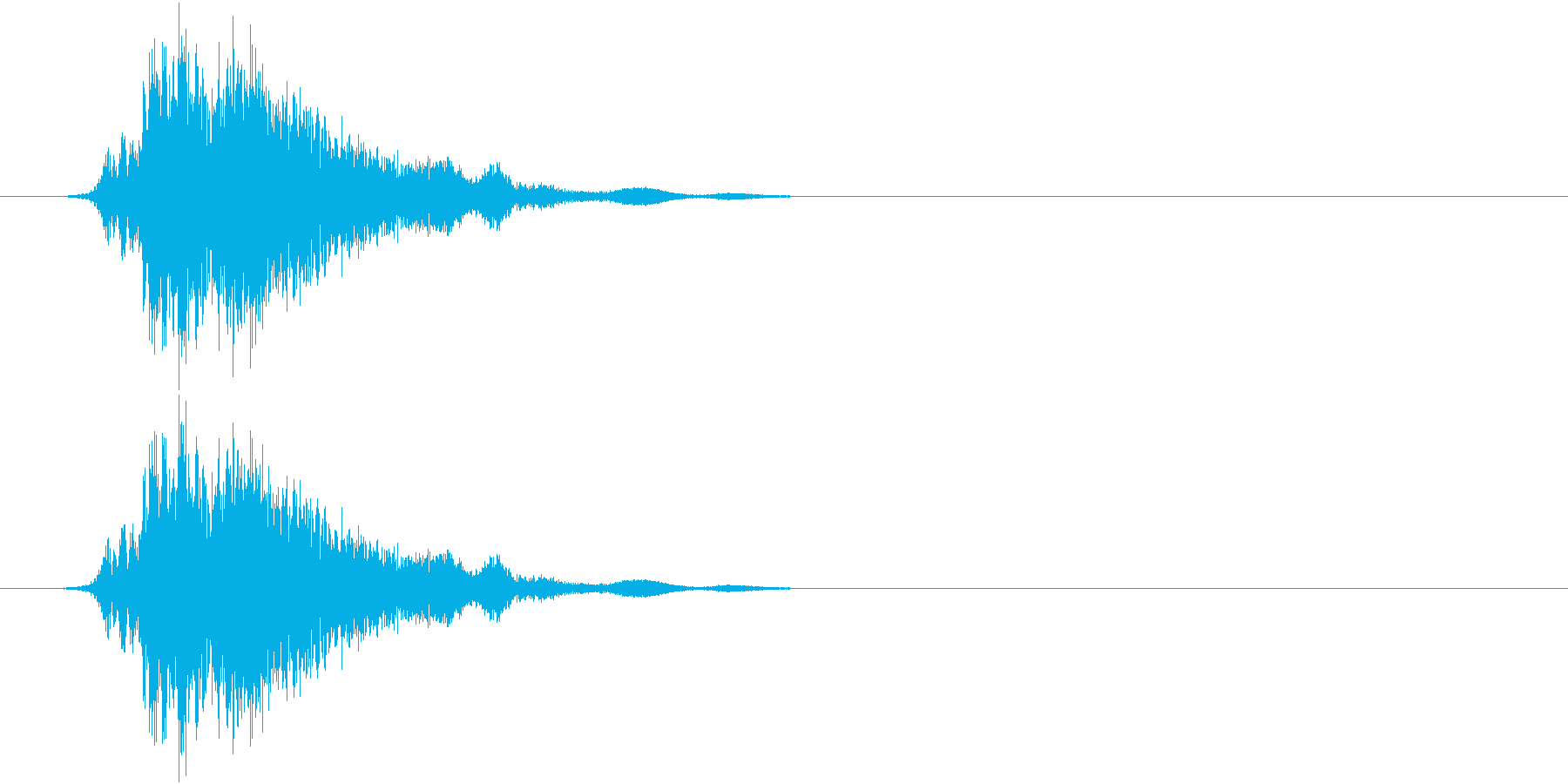 斬撃4の再生済みの波形