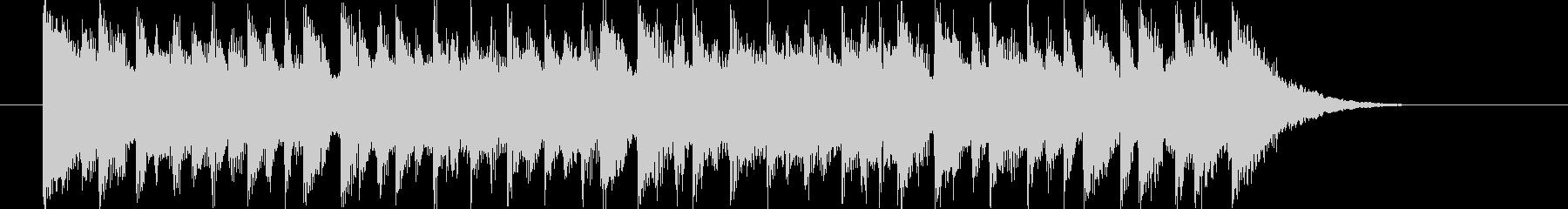 軽快なドラムとエレクトーンによるBGMの未再生の波形