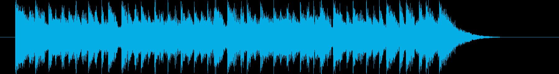 軽快なドラムとエレクトーンによるBGMの再生済みの波形