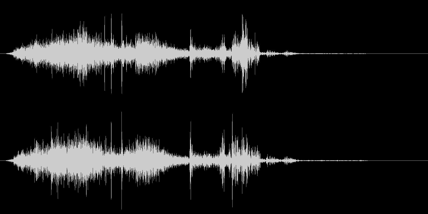 シュルシュルパ(逃げる虫をたたく音)の未再生の波形