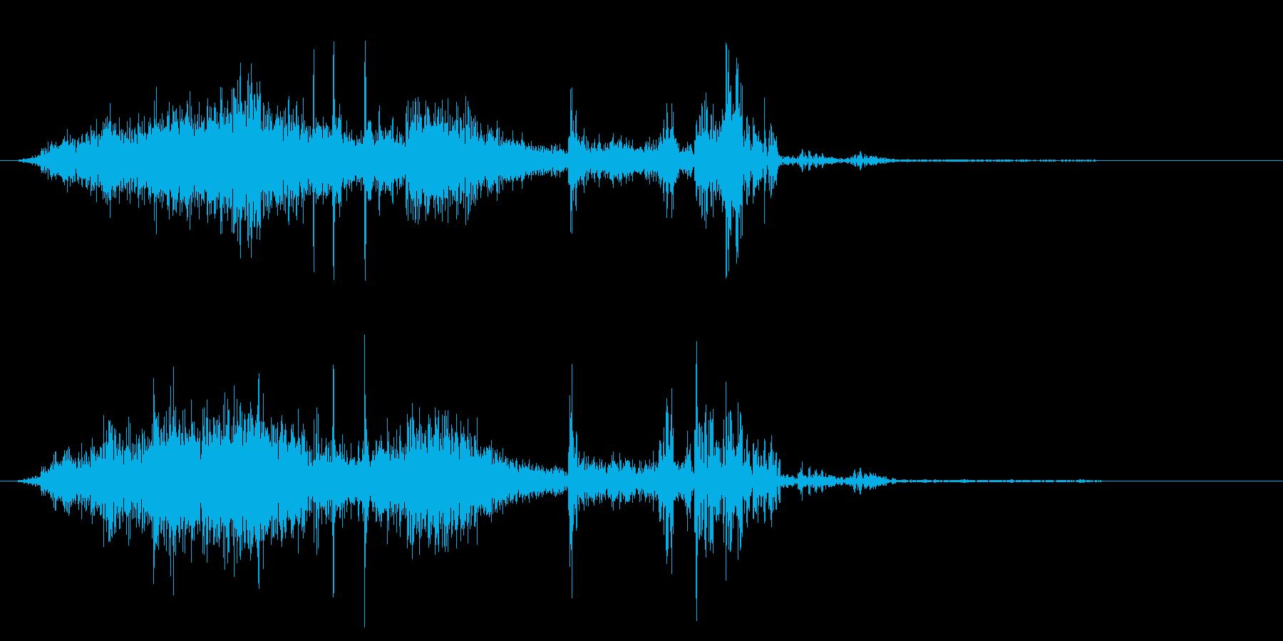 シュルシュルパ(逃げる虫をたたく音)の再生済みの波形